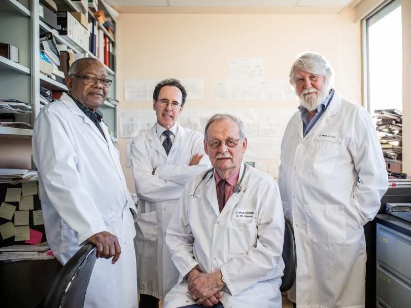 From left to right: Majambu Mbikay, Richard Mayrand, Michel Chretien, Jeremy Carver (Photograph by Will Lew)