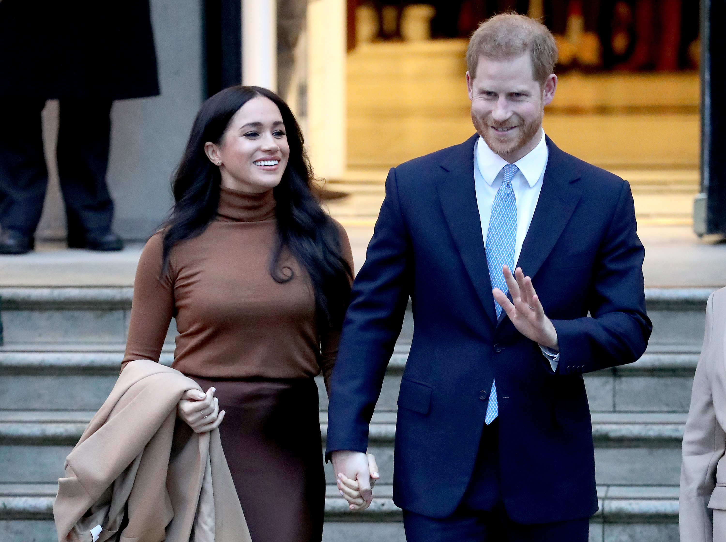 Prince Harry, Duke of Sussex and Meghan, Duchess of Sussex depart Canada House on January 07, 2020 in London, England. (Chris Jackson/Getty Images)