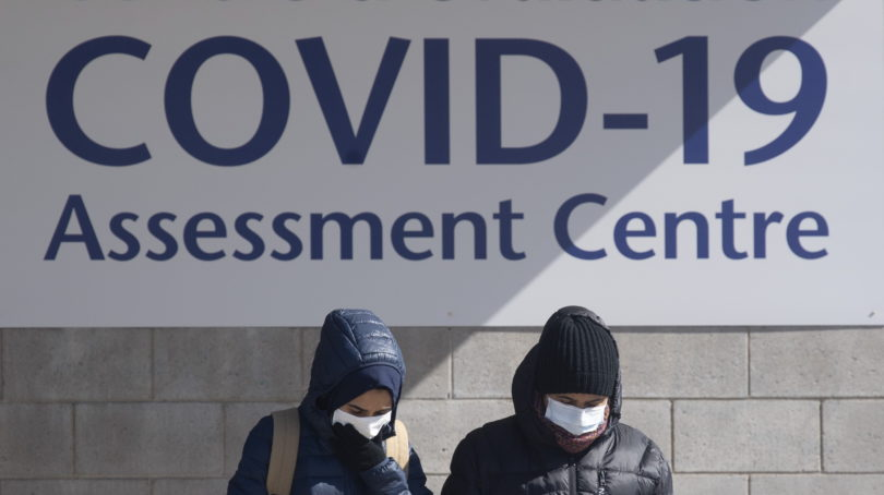 A COVID-19 assessment centre in Ottawa. (Adrian Wyld/CP)