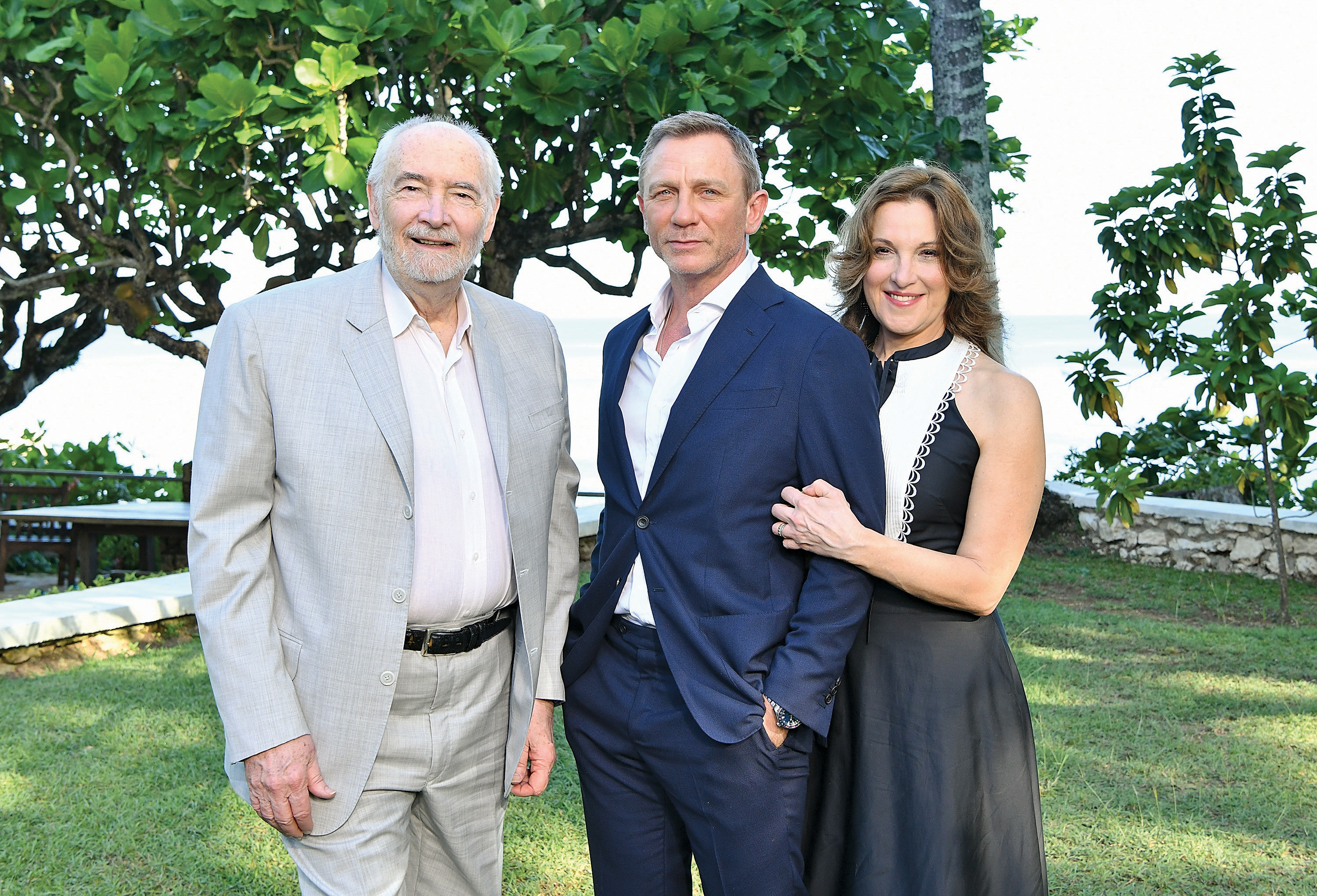 Stepson Michael and daughter Barbara with Craig (Slaven Vlasic/Getty Images)