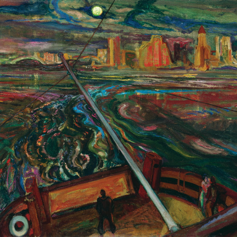 'Night Ferry, Vancouver,' 1937 (F.H. Varley/McMichael Canadian Art Collection)