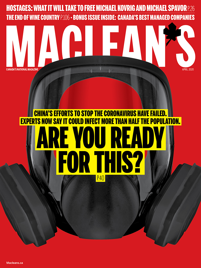 April 2020 cover of Maclean's magazine