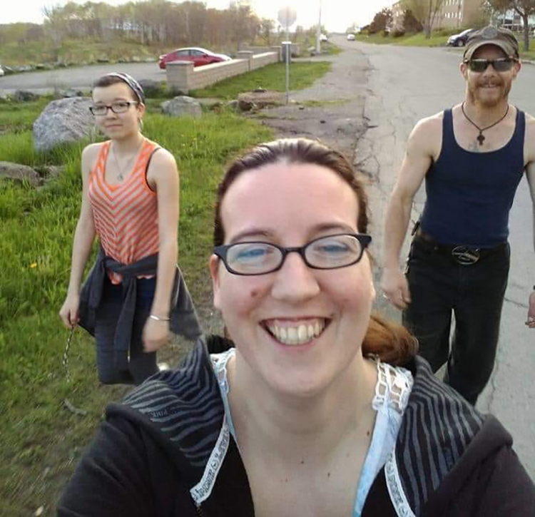 Emily Tuck (left to right), Jolene Oliver and Aaron Tuck are shown in a family handout photo. The family from Portapique, N.S. were among the victims of the mass killing in Nova Scotia this past weekend. (Tammy Oliver-McCurdie/CP)