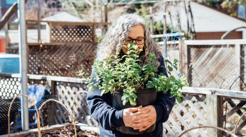 Arlene of The Backyard Urban Farm Co. (Photograph by Brianna-Roye)
