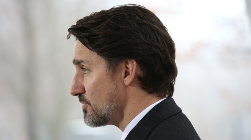 Canadian Prime Minister Justin Trudeau speaks during a news conference on COVID-19 situation in Canada from his residence March 20, 2020 in Ottawa, Canada. (Photo by Dave Chan / AFP) (Photo by DAVE CHAN/AFP via Getty Images)