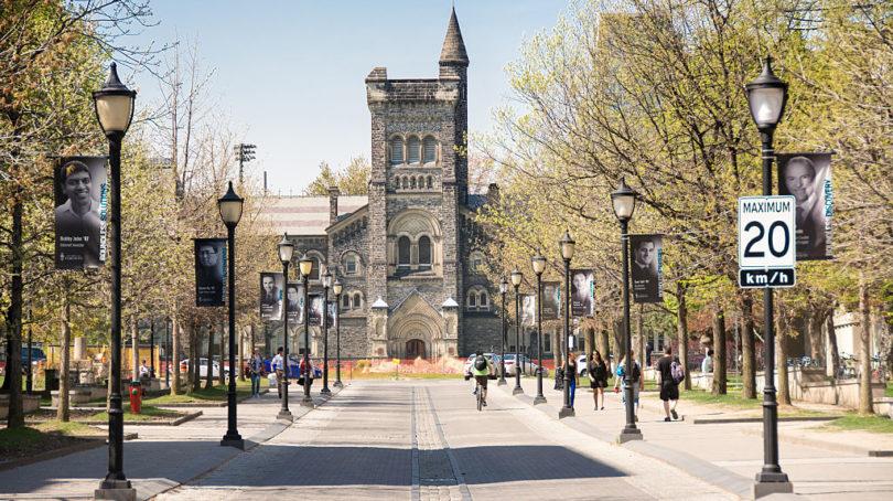University of Toronto downtown campus before it closed due to COVID-19. (Roberto Machado Noa/ Getty Images)
