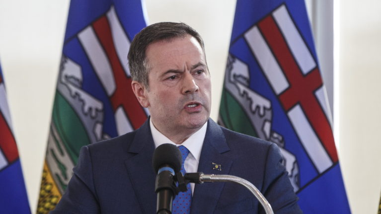 Alberta Premier Jason Kenney speaks during a press conference in Edmonton on Feb. 24, 2020. (Jason Franson/CP)