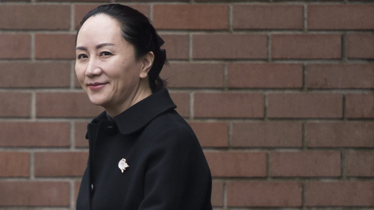 Meng Wanzhou, chief financial officer of Huawei, leaves her home to go to B.C. Supreme Court in Vancouver, Wednesday, January 22, 2020. The British Columbia Supreme Court will release a key decision next week in the extradition case of Huawei executive Wanzhou. THE CANADIAN PRESS/Jonathan Hayward