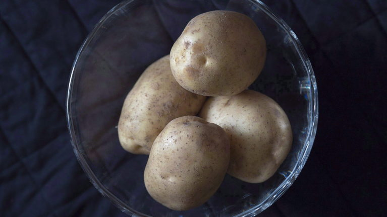 Potatoes are seen in Halifax on Nov. 28, 2016. There are 200 million French fry potatoes in Canada already harvested. (Andrew Vaughan/CP)