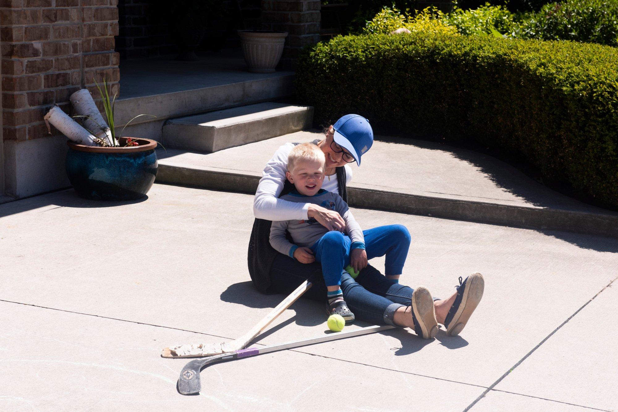 Beth Miller hugs her son Matthew (Photograph by Marta Iwanek)