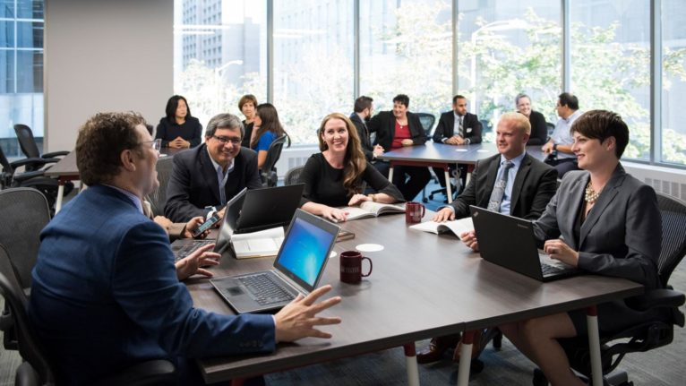 Students of the Telfor EMBA program at the University of Ottawa. (Courtesy of University of Ottawa)