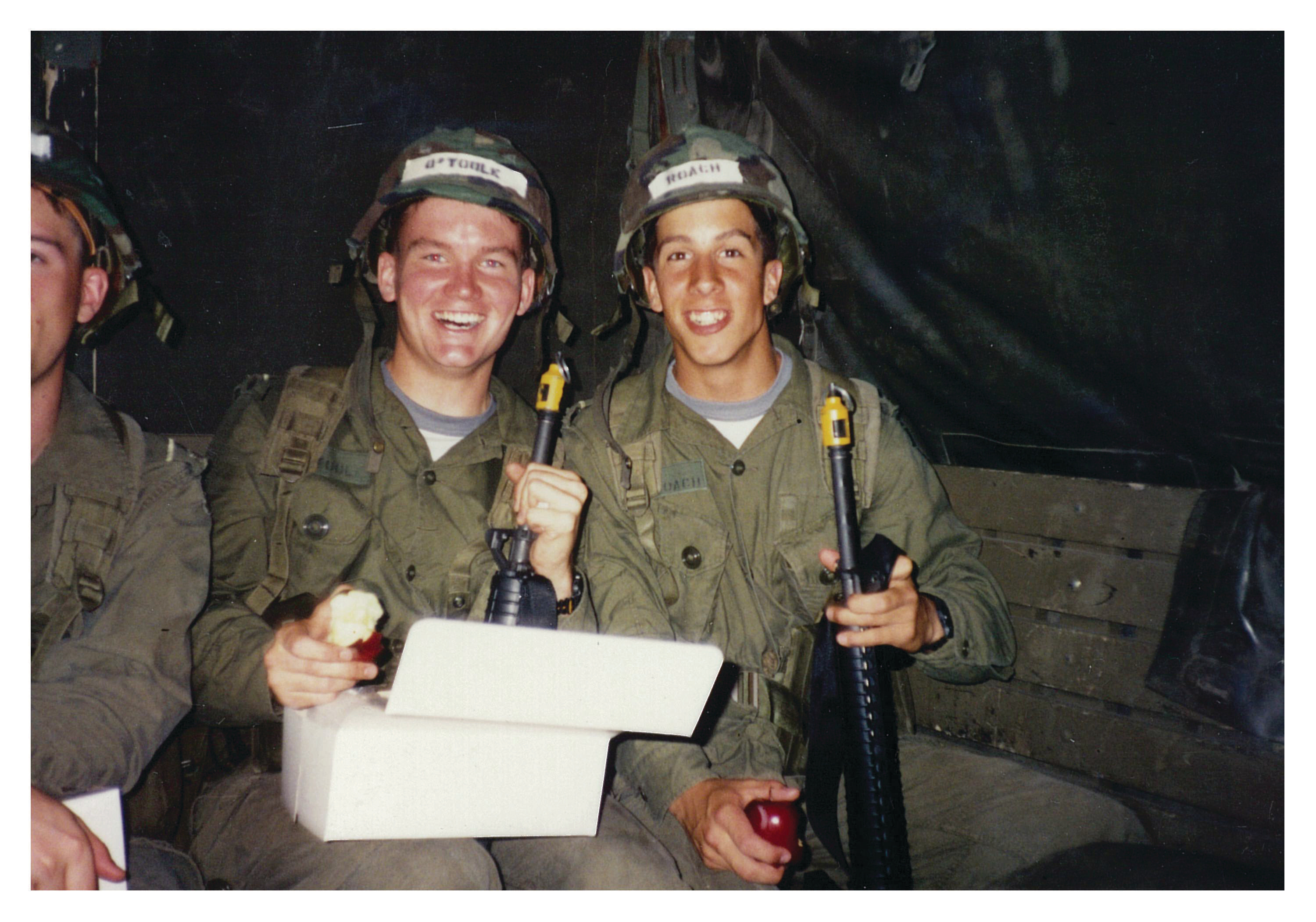 O'Toole (left) during basic training in B.C. in 1991 (Courtesy of Erin O'Toole)