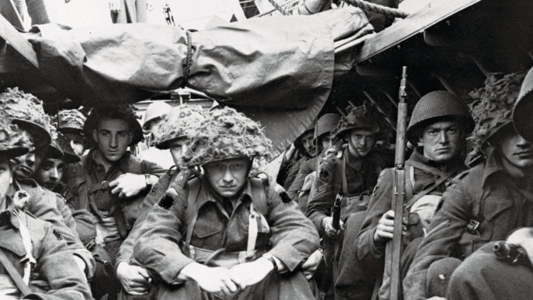 Canadian troops in France in 1944 (Bettmann/Getty Images)