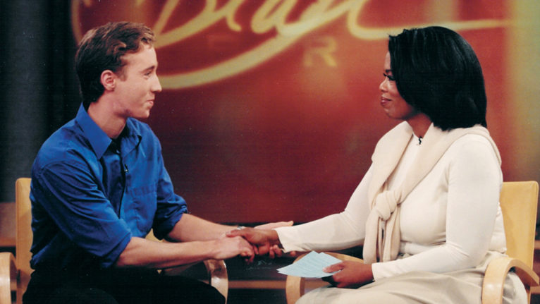 Craig appearing on Oprah Winfrey's show in 1999 (Courtesy of WE)