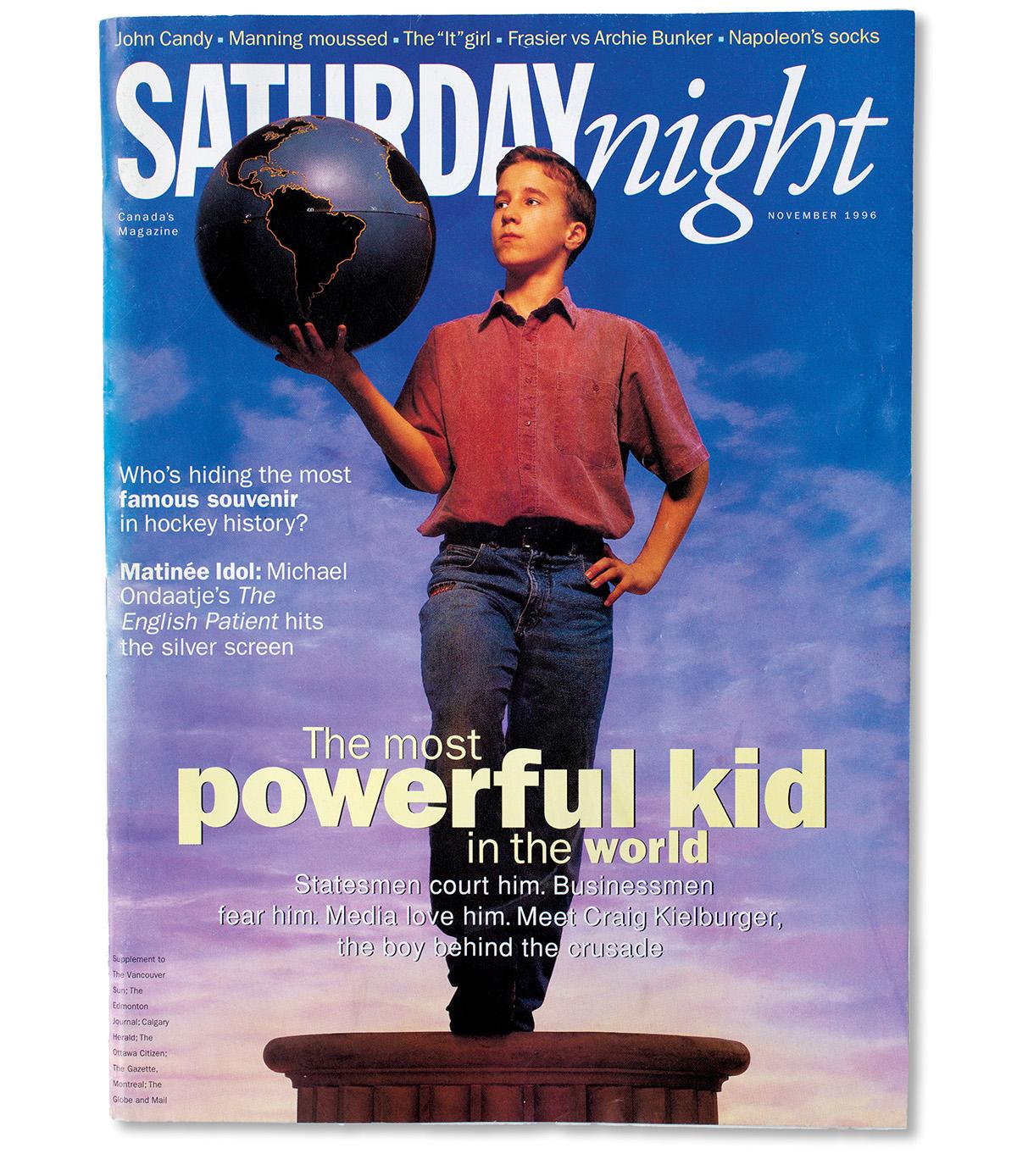 November 1996 issue of Saturday Night magazine (Photograph by Liz Sullivan)