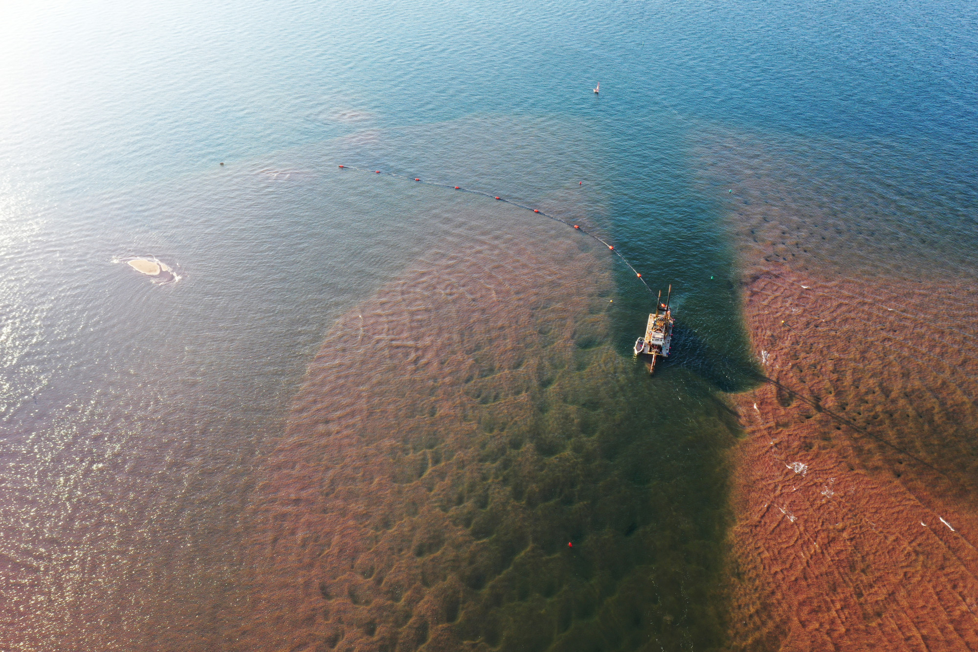 The treacherous Darnley channel, between Malpeque Bay and a nearby wharf, is a worry for fishers who need to navigate it during lobster season (James Harper)
