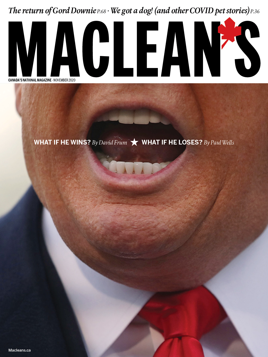 The November 2020 cover of Maclean's