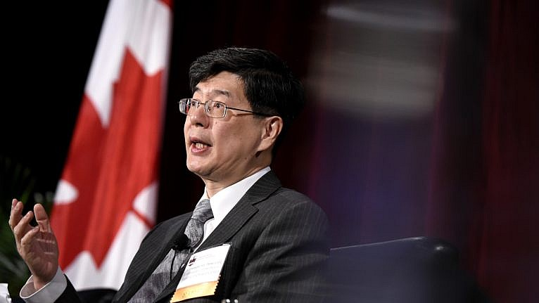 Ambassador of China to Canada Cong Peiwu speaks as part of a panel at the Ottawa Conference on Security and Defence in Ottawa, on March 4, 2020 (CP/Justin Tang)