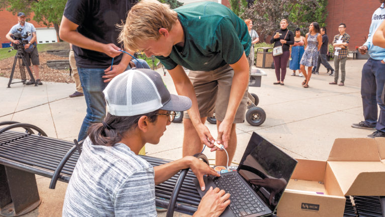 Engineering students at the University of Alberta. (Courtesy of University of Alberta)