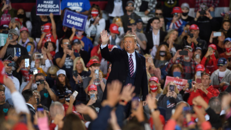 Trump at rally in Pennsylvania, Sept. 22
