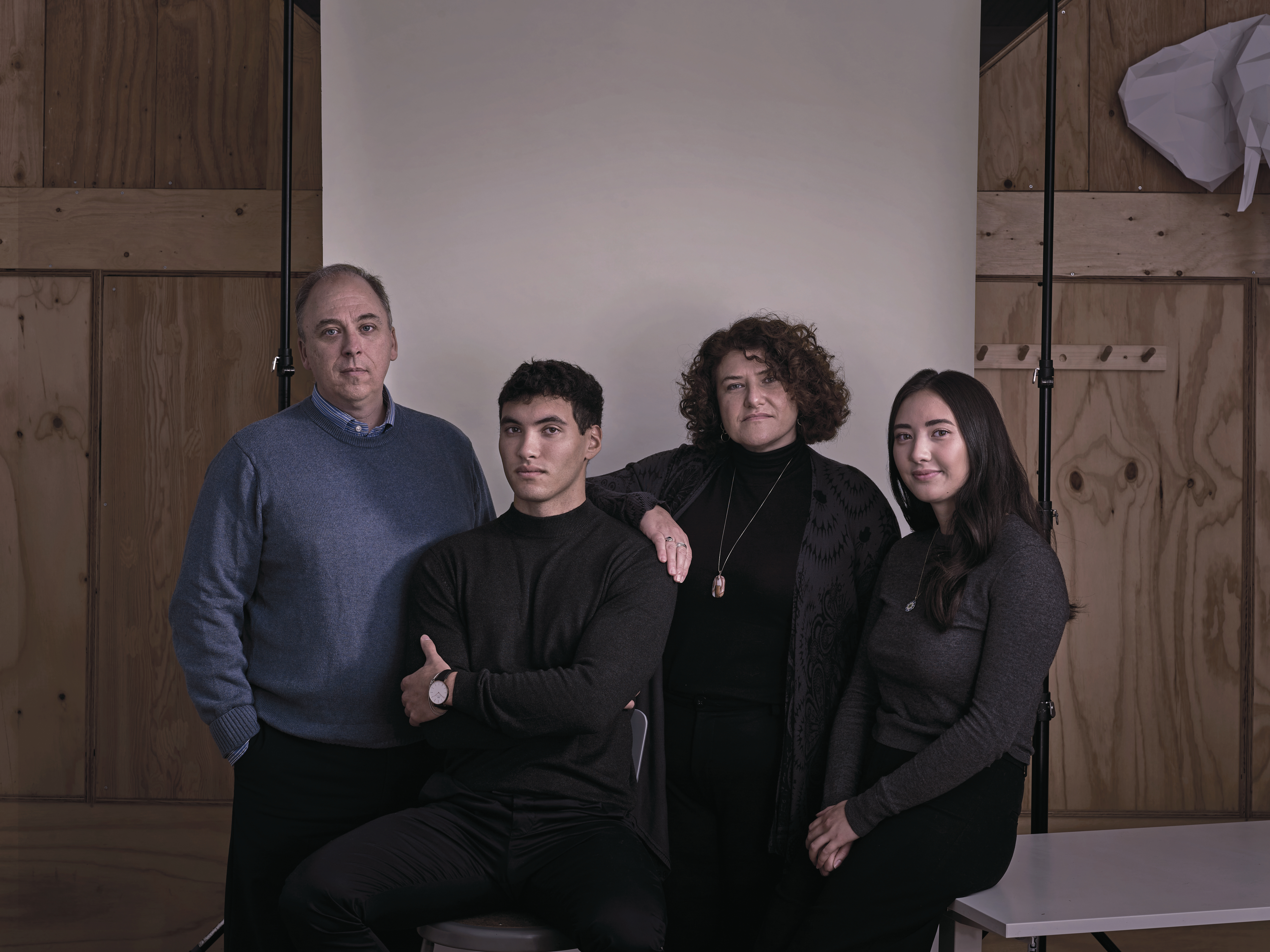 Thomas with his stepfather, Jeff, mother, Roz and sister, Christina; the family is weary but they still have a long fight ahead, even if the SCC rules in his favour. (Photograph by Clay Stang)