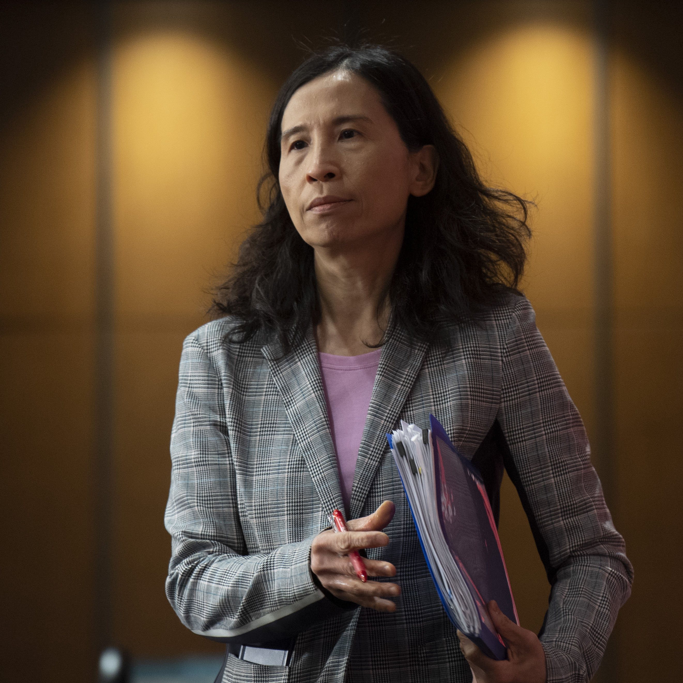 Chief Public Health Officer Theresa Tam takes her seat for a daily news conference, Thursday, May 7, 2020 in Ottawa. (Adrian Wyld/CP)