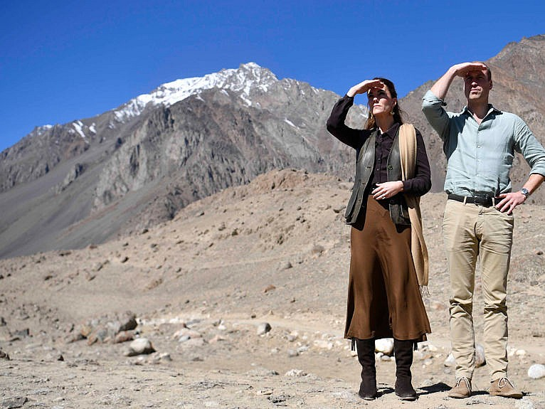 The Cambridges visit Pakistan's Chiatibo glacier in 2019; the couple has made conservation and climate change an important part of their roles (Neil Hall/Getty Images)