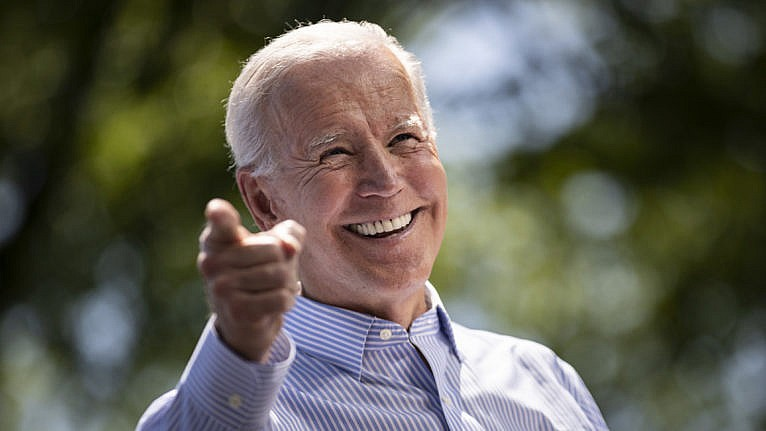 Biden speaks during a campaign kickoff rally on May 18, 2019 in Philadelphia, Penn. (Drew Angerer/Getty Images)