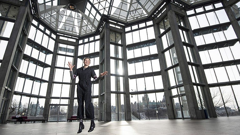 Suda, director of the National Gallery of Canada, in Ottawa on Dec. 17, 2020 (Justin Tang for Maclean's Magazine)