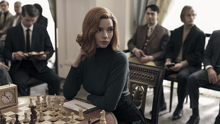 Anya Taylor as Beth Harmon in The Queen's Gambit. (Charlie Gray/Netflix)