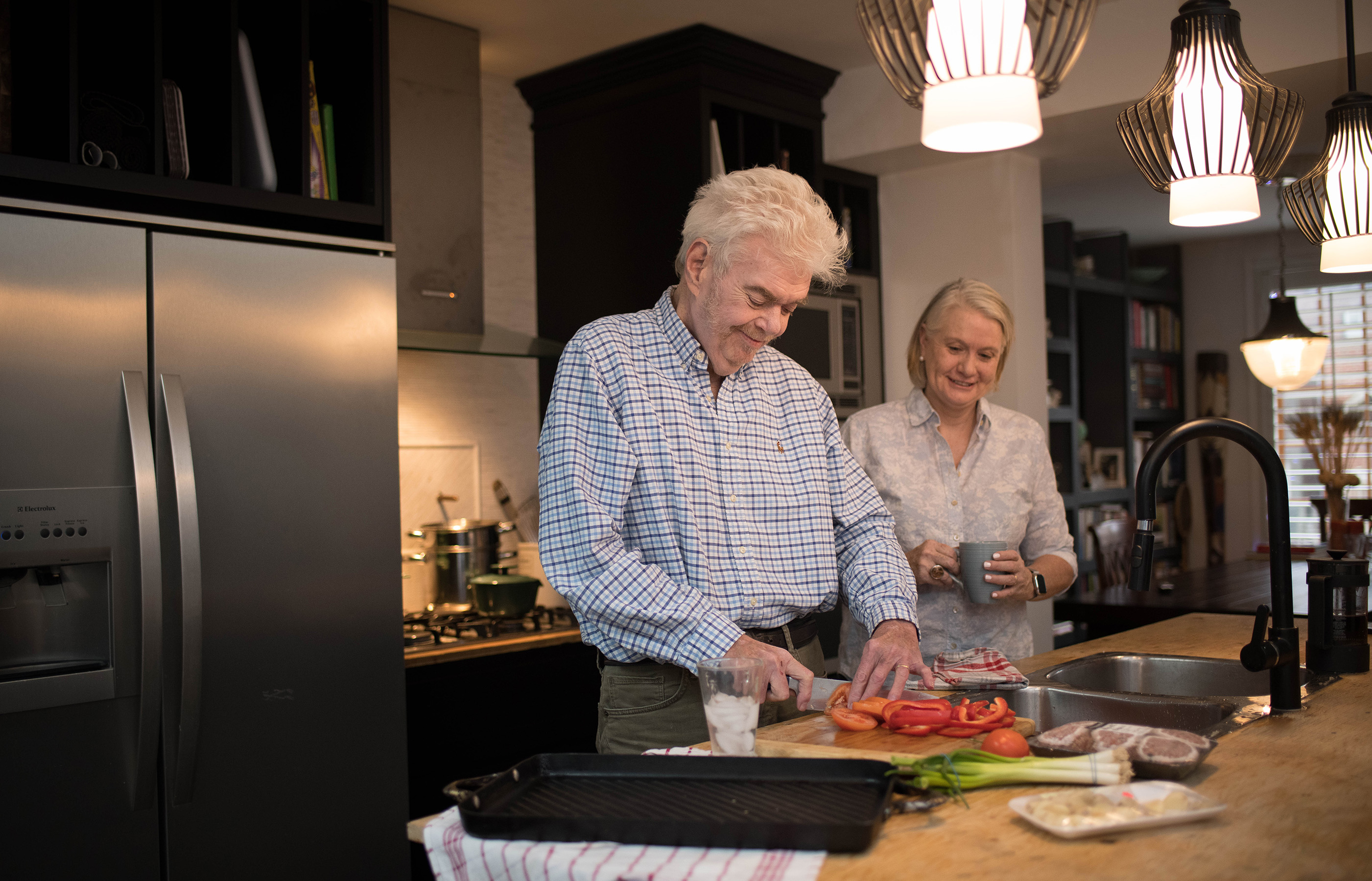 Plummer and Kennelly in their kitchen (Courtesy of Sunnybrook Health Sciences Centre)