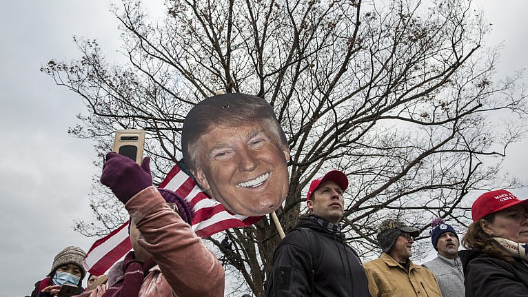 Trump supporters gather near the Capitol Building on Jan. 6, 2021 (Probal Rashid/LightRocket via Getty Images)