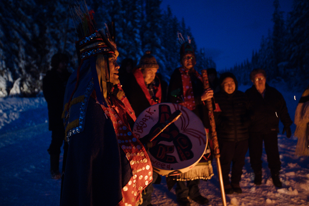 Chief Woos/Wet'suwet'en hereditary chiefs and matriarchs