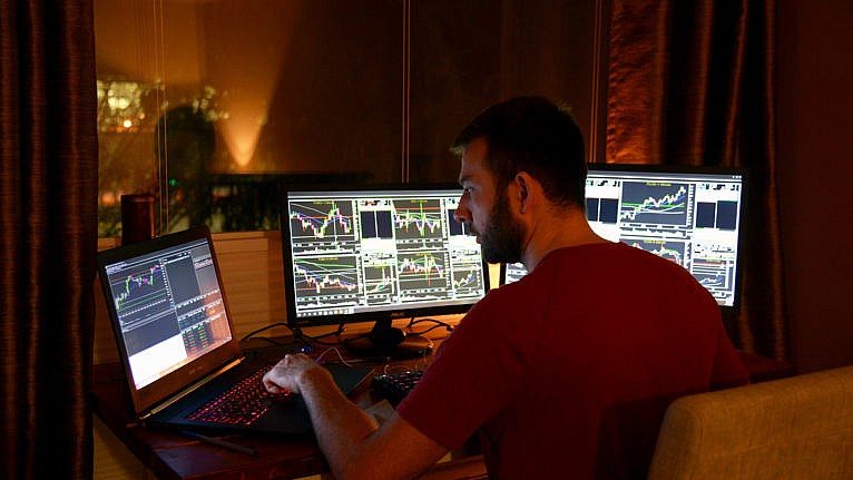 After months of research, Randelovic quit his job to focus on day trading just before COVID hit; 'I've had to become comfortable with losing,' he says (no credit)