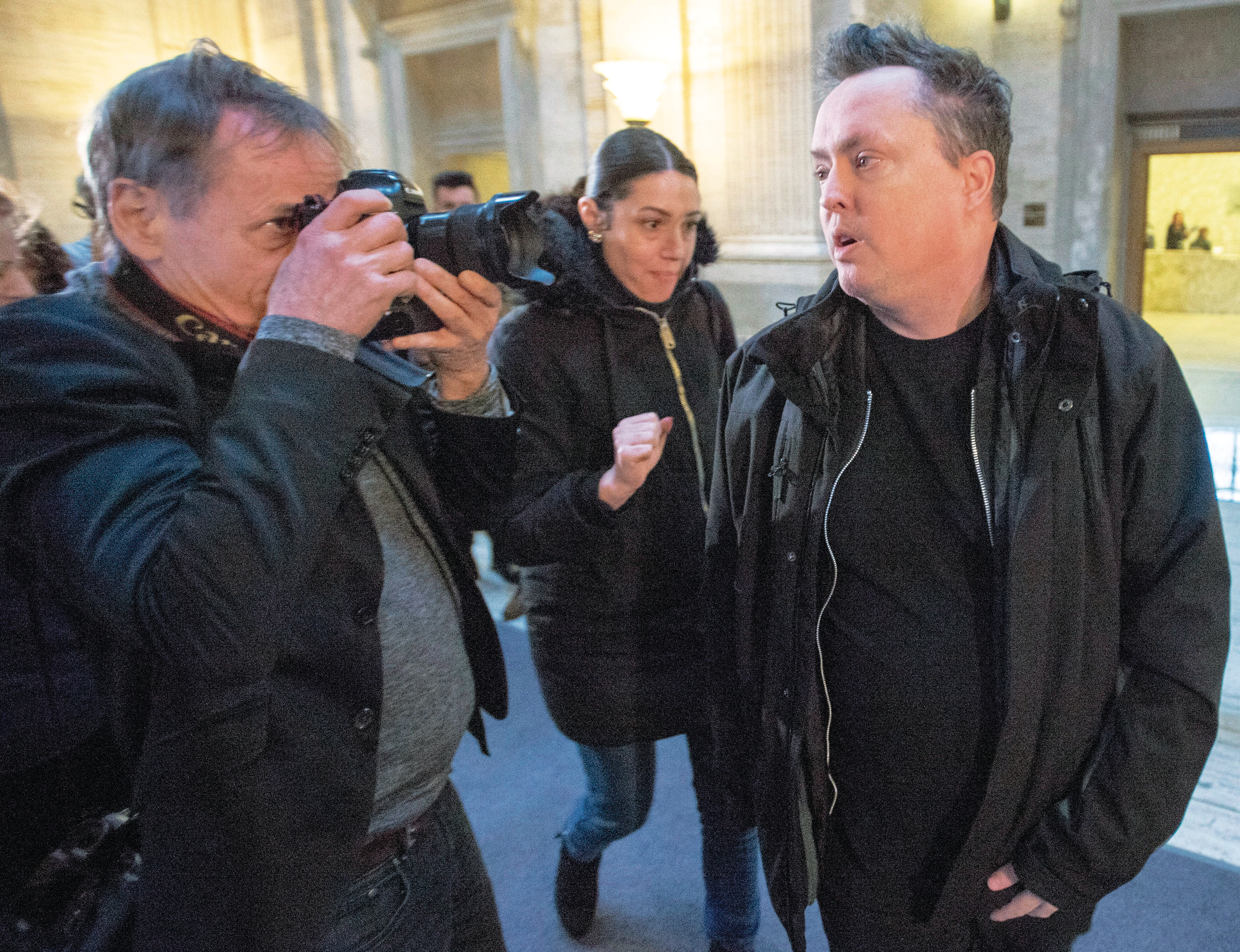 Ward leaving the Quebec Appeal Court on Jan. 16, 2019, in Montreal (Ryan Remiorz/CP)