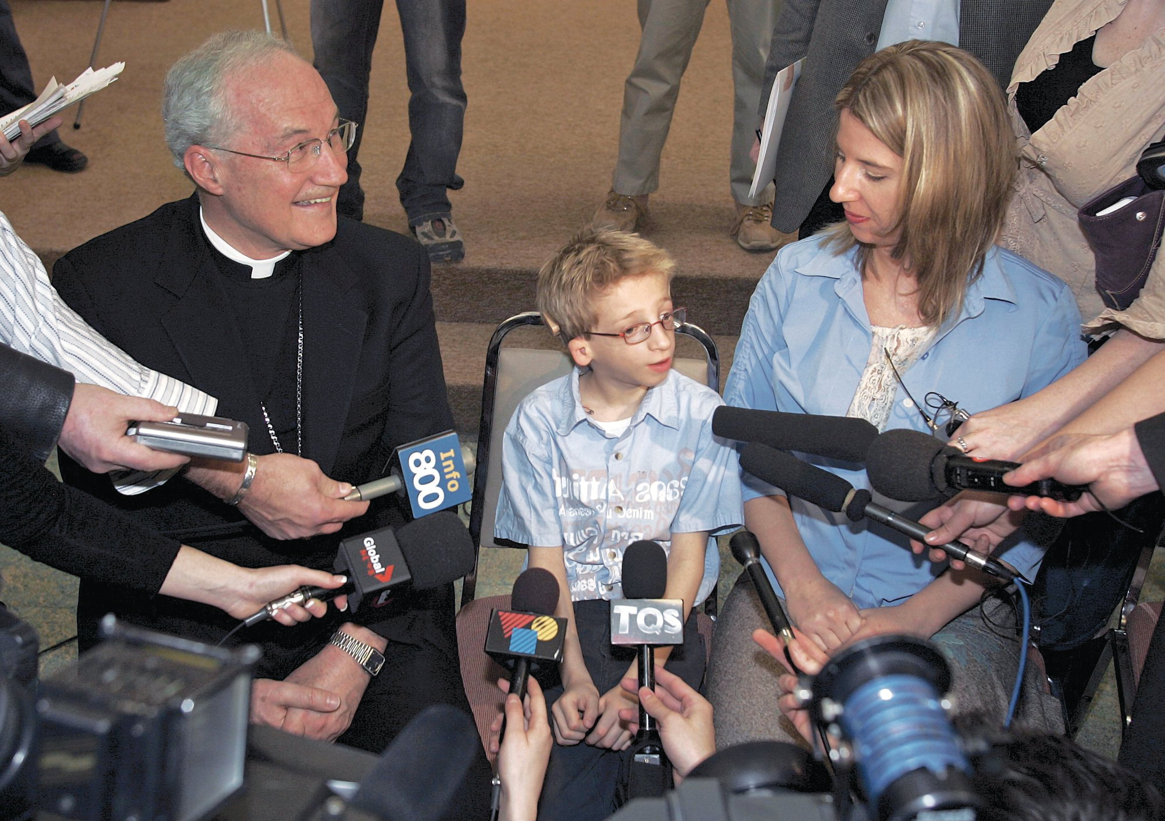 Gabriel with his mother, Cardinal Ouelett (Jacques Boissinot/CP)