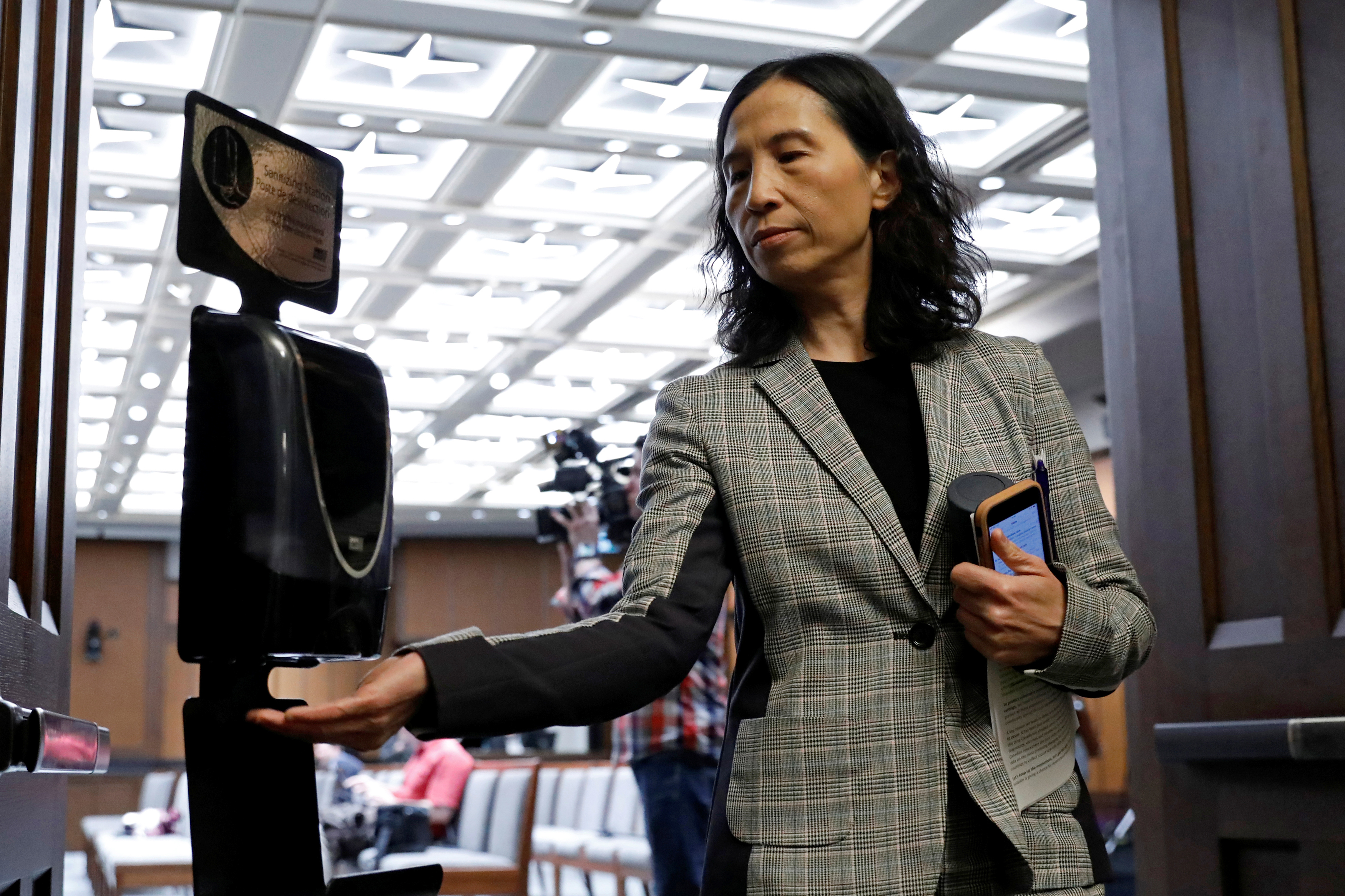 Chief Public Health Officer Dr. Theresa Tam in Ottawa on March 23, 2020; early messaging prioritized hand sanitizing, not masks (Blair Gable/Reuters)
