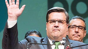 Coderre makes his concession speech after losing the municipal election on Nov. 5, 2017 in Montreal (CP/Ryan Remiorz)
