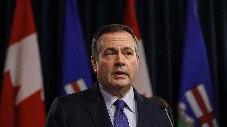 Kenney holds a COVID-19 briefing in Edmonton on March 20, 2020 (CP/Jason Franson)