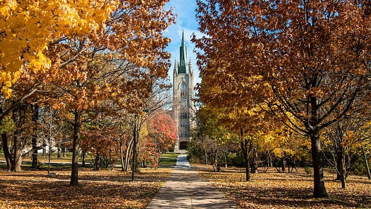 Western University campus in the fall