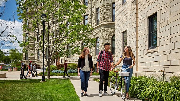 University of Winnipeg students on campus
