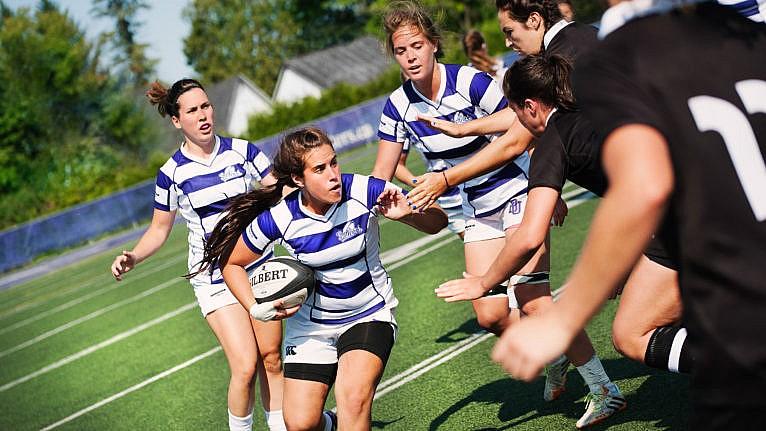 Bishop's University students playing football