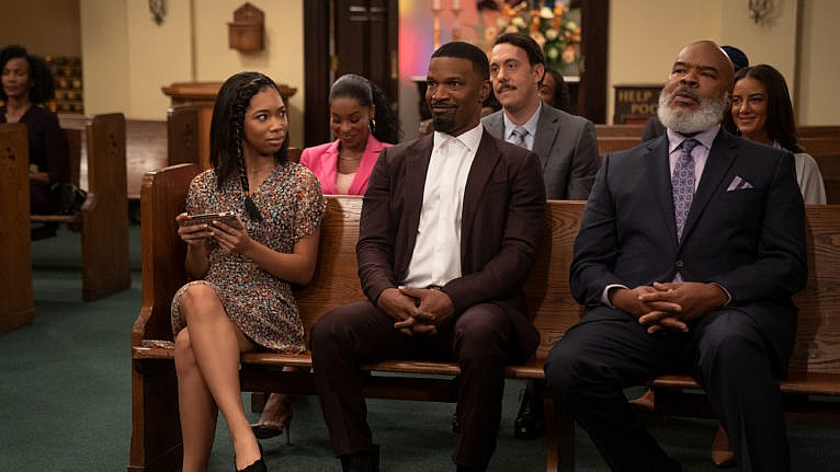 A still from Dad Stop Embarrassing Me!, starring Jamie Foxx (Photo courtesy of Netflix)