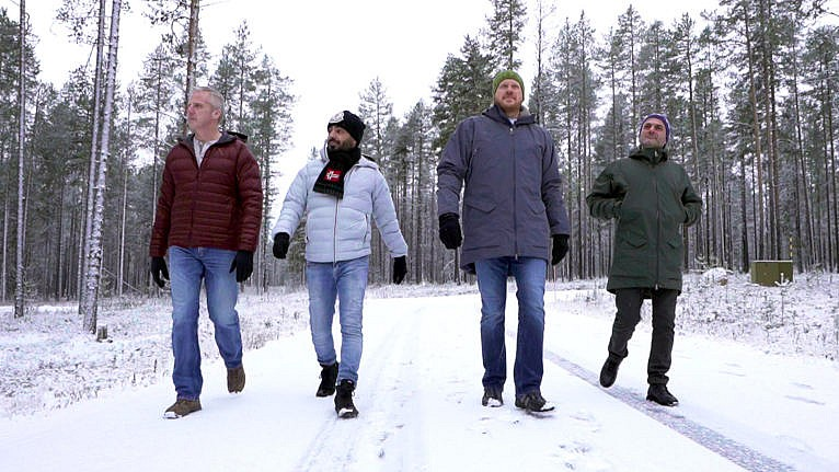 The 4 contestants of the show, Maajussille morsian (Courtesy of MTV3)