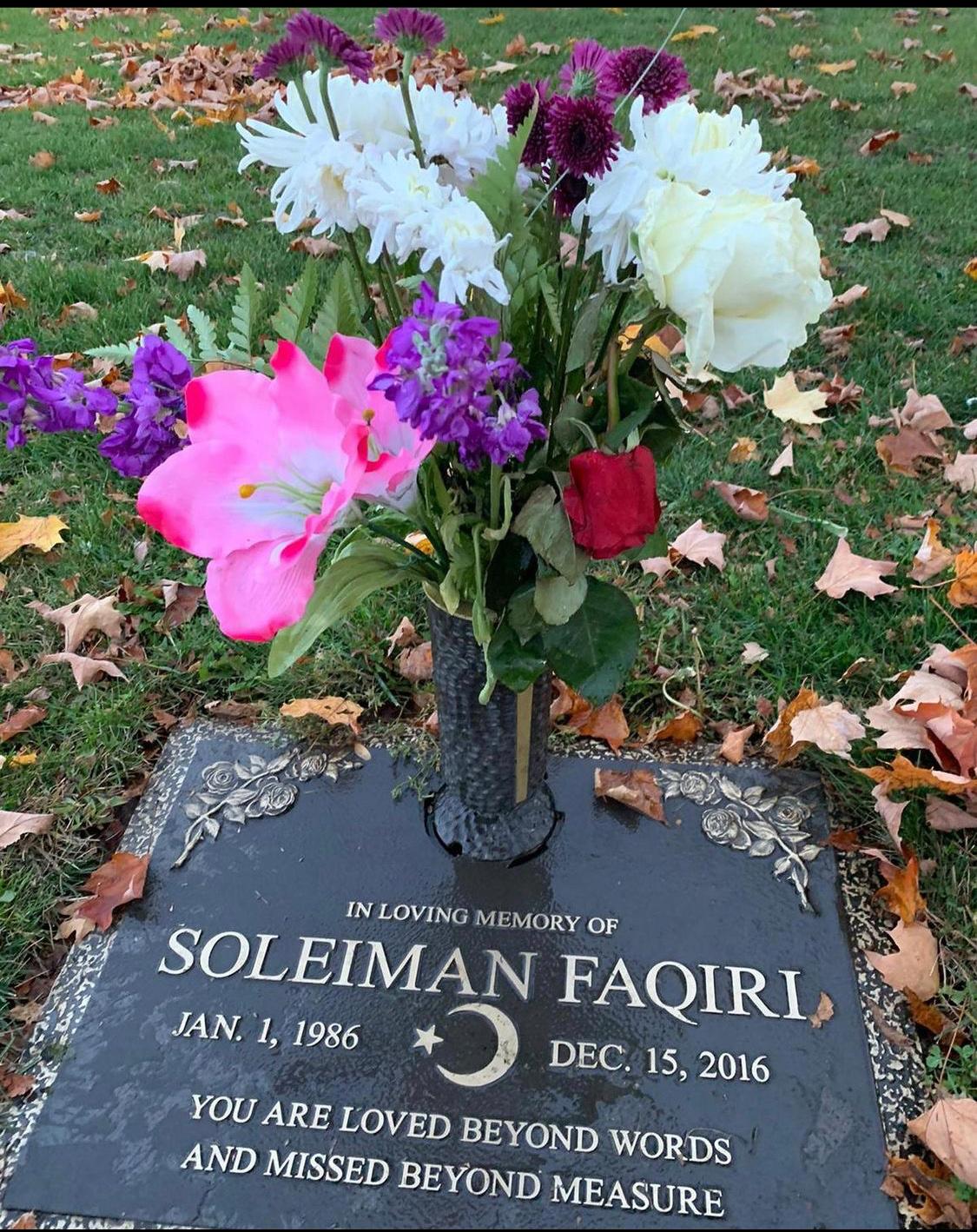 Soleiman Faqiri's grave (Courtesy of Yusuf Faqiri)