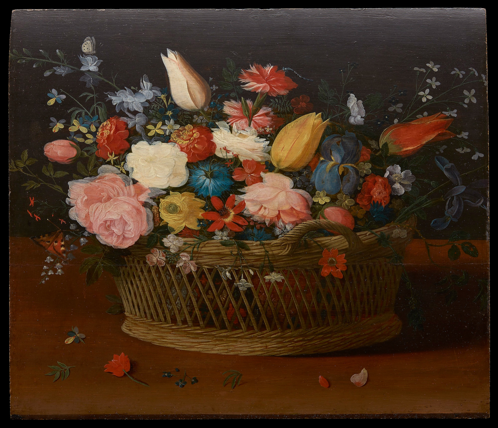 Still Life with Flowers, c 1660, oil on panel by Jan van Kessel II (Courtesy of Commission for Looted Art in Europe)