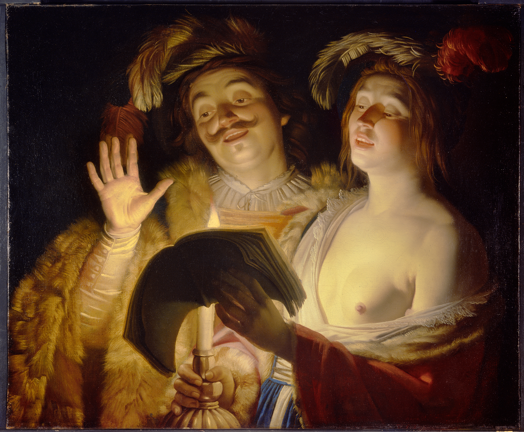 in 2013, the Montreal Museum of Fine Arts returned The Duet by Gerrit van Honthorst to the original owner's family (Courtesy of MBAM)