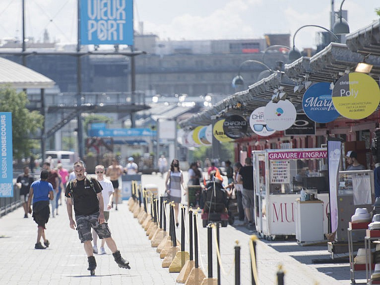 A man roller blades in the Old Port of Montreal, Saturday, June 20, 2020, as the port launches its 2020 summer season. The COVID-19 pandemic continues in Canada and around the world. THE CANADIAN PRESS/Graham Hughes