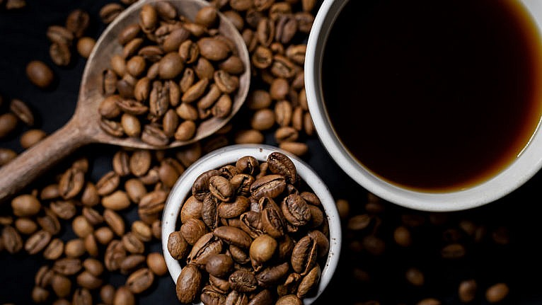 Liberica coffee beans; LeClair's roast gives a sweet and jackfruity brew, with hints of almond (Photograph by Carey Shaw)