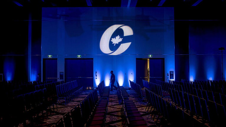 O'Toole's attempts to rebrand the 'big blue tent' have had pushback from the party's base (Darren Calabrese/CP)